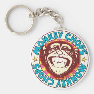 Monkey Chops Basic Round Button Key Ring