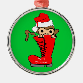 monkey Christmas Christmas Ornament