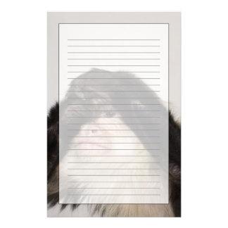 Monkey covering its eyes custom stationery