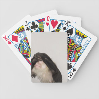 Monkey covering its eyes poker deck