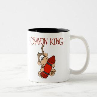 Monkey Crayon King Mugs