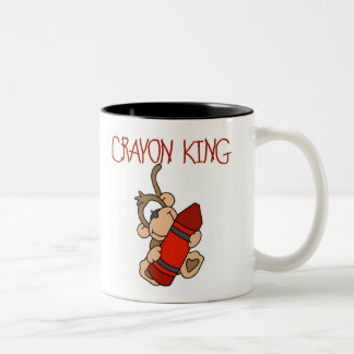 Monkey Crayon King Two-Tone Mug