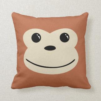 Monkey Cute Animal Face Design Cushion