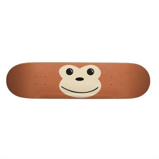 Monkey Cute Animal Face Design Skate Deck
