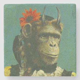 Monkey Demon Marble Coaster
