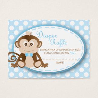 Monkey Diaper Raffle Tickets-Baby Boy