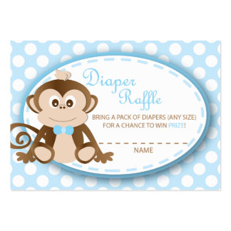 Monkey Diaper Raffle Tickets-Baby Boy Pack Of Chubby Business Cards