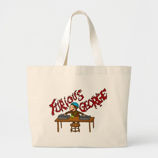 Monkey DJ Large Tote Bag