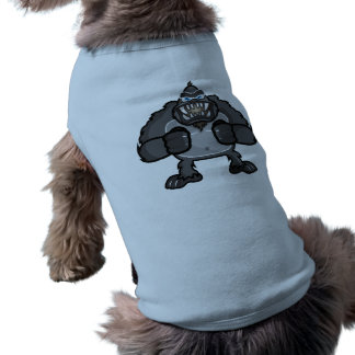 Monkey doggie ribbed tank top