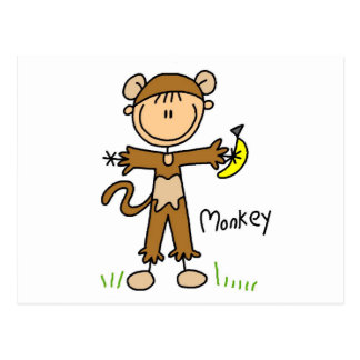 Monkey Dress Up T-shirts and Gifts Postcard