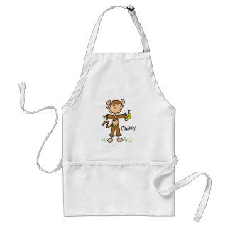 Monkey Dress Up T-shirts and Gifts Standard Apron