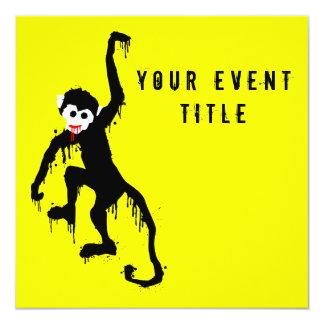 monkey dripz 13 cm x 13 cm square invitation card