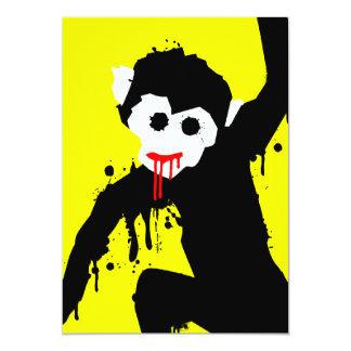 monkey dripz 13 cm x 18 cm invitation card