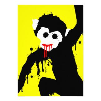 monkey dripz personalized invite