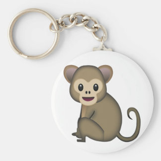 Monkey Emoji Key Ring
