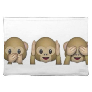 Monkey-Emoji - laughing monkey cartoon funny Placemat