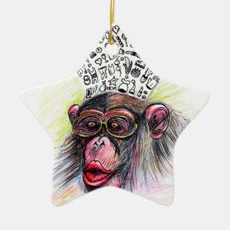 Monkey explosion. Woman Ceramic Star Decoration