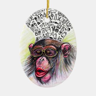 Monkey explosion. Woman Christmas Ornament