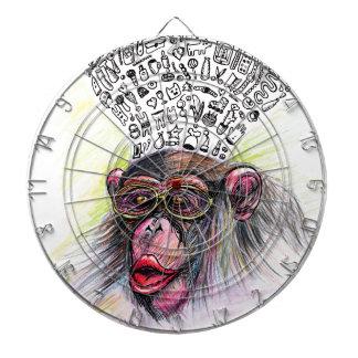 Monkey explosion. Woman Dartboard