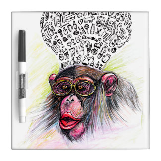 Monkey explosion. Woman Dry Erase Board