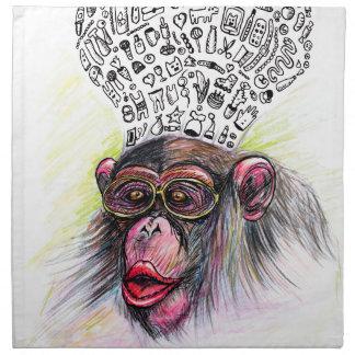 Monkey explosion. Woman Napkin