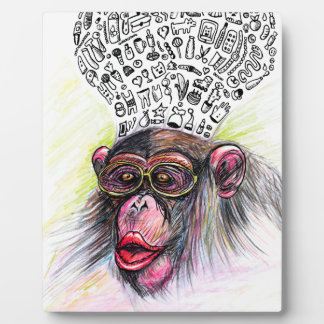 Monkey explosion. Woman Plaque