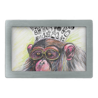 Monkey explosion. Woman Rectangular Belt Buckle