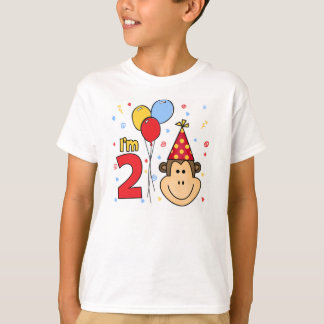 Monkey Face  2nd Birthday T-Shirt