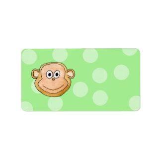 Monkey Face. Address Label