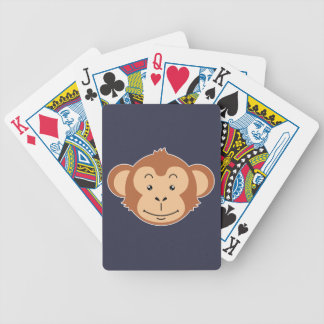 Monkey Face Bicycle Playing Cards