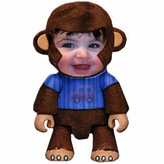 Monkey Face - Boy Photo Cutout