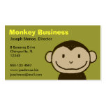 Monkey Face Business Card