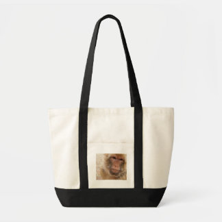 Monkey Face Canvas Tote Bag
