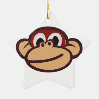 Monkey Face Ceramic Star Decoration
