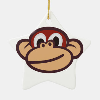 Monkey Face Christmas Ornament