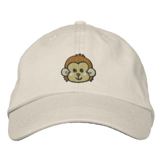 monkey face embroidered hat