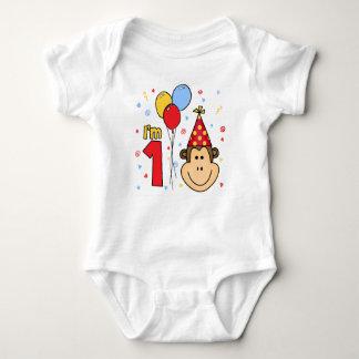 Monkey Face First Birthday T-shirt