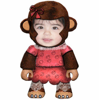 Monkey Face - Girl Standing Photo Sculpture