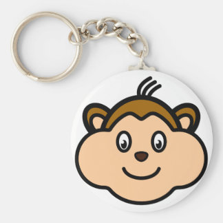 Monkey Face Key Chain