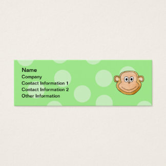 Monkey Face. Mini Business Card