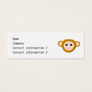 Monkey Face Mini Business Card