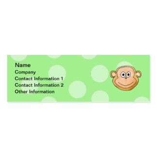 Monkey Face. Pack Of Skinny Business Cards