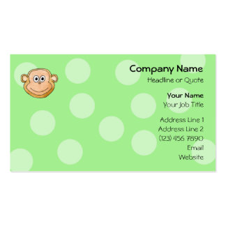 Monkey Face. Pack Of Standard Business Cards