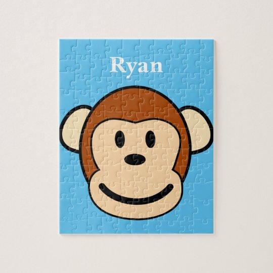Monkey Face Personalised Jigsaw Puzzle