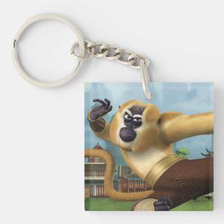 Monkey Fight Pose Key Ring
