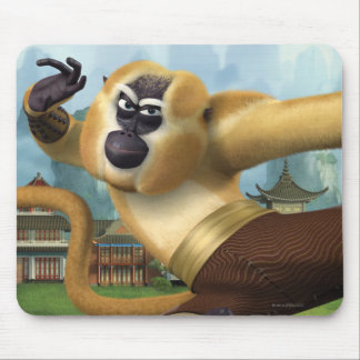 Monkey Fight Pose Mouse Pad