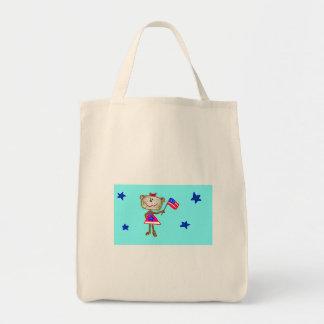 Monkey Flag Tote Grocery Tote Bag