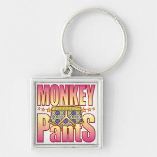 Monkey Flowery Pants Key Ring