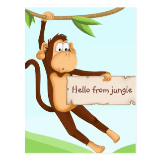 Monkey for children postcard
