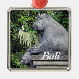 Monkey Forest Gate Christmas Ornament